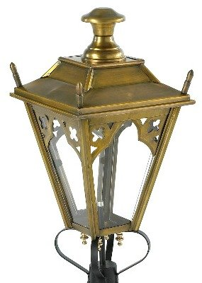 Post Lantern in brass