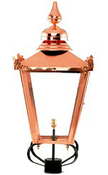 Copper Garden Lamp Posts