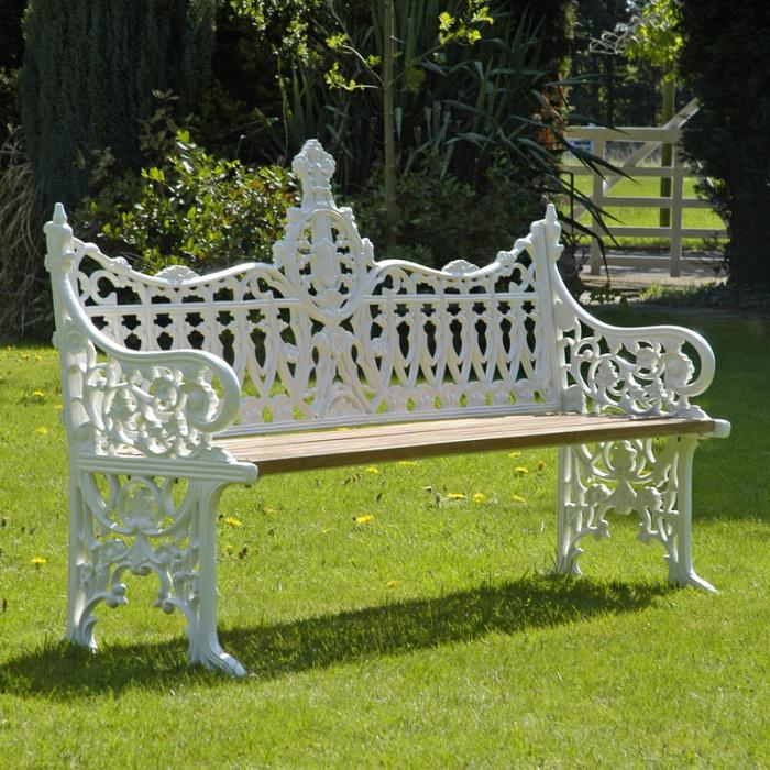 3 Seater Winchester Garden Bench, 3 Seater Cast Aluminium Garden Bench