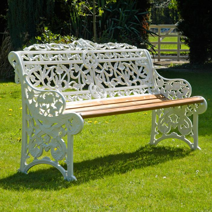 3 Seater Belgravia Garden Bench, 3 Seater Cast Aluminium Garden Bench