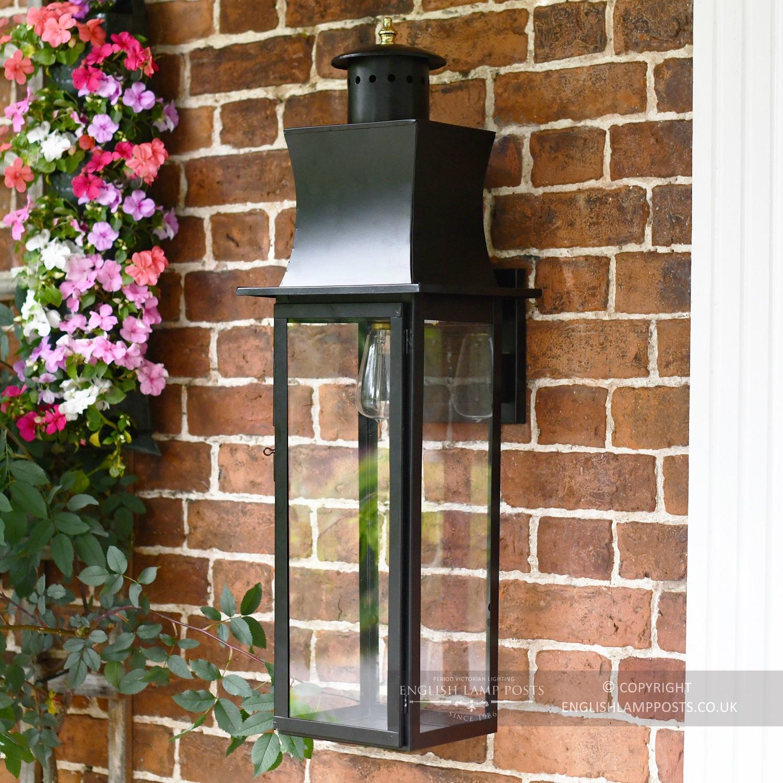 Extra Large Black Modern Wall Lantern