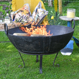 100cm Diameter Wrought Iron Kadai Fire Bowl