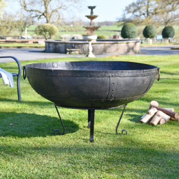 120cm Kadai Fire Bowl with Stand
