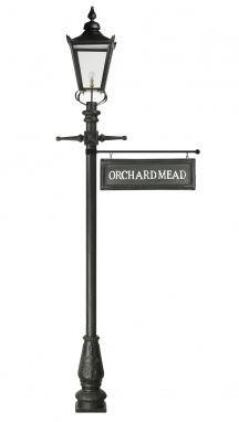 2.7m Victorian Lamp Post With Hanging Sign