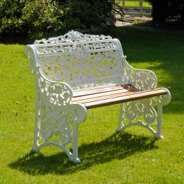 2 Seater Belgravia Garden Bench Made From Cast Aluminium