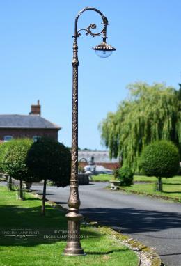 3m Antique Gold Gothic Cast Iron Victorian Lamp Post