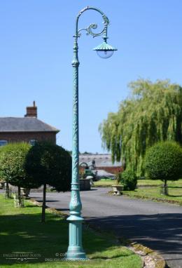 3m Pale Blue Gothic Cast Iron Victorian Lamp Post