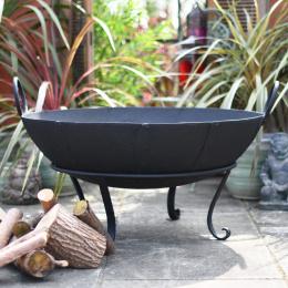 90cm Diameter Wrought Iron Kadai Fire Bowl