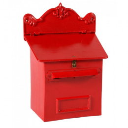 Red Cambourne Secure Parcel Box Wall Mount