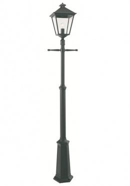 adjustable height Single head Victorian lamp post in aluminium