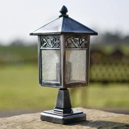 Antique Black and Silver Classic Pillar Light