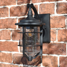 Antique Black Marine Style Wall Lantern