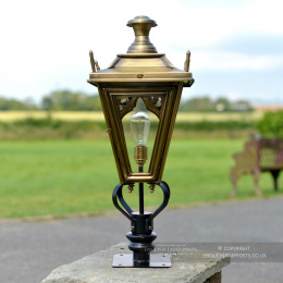 Antique Brass Canterbury Entrance Light - 71cm