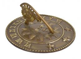 Antique Brass Sunrays and Starlight Sundial