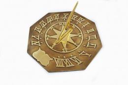 Antique Brass Octagonal Sundial