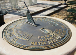 "Brass ""The Best is Yet to Be"" Sundial"