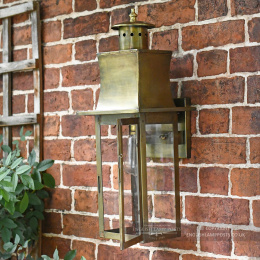 Antique Brass Traditional Flush Wall Lantern