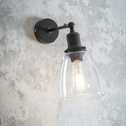 Antique Bronze Adjustable Modern Interior Wall Light by Garden Trading