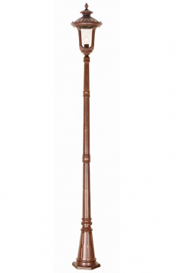"""The Wilborough"" Antique Bronze Classic Style Garden Lamp Post 2.46m"