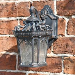 Antique Bronze Ornate Wall Lantern