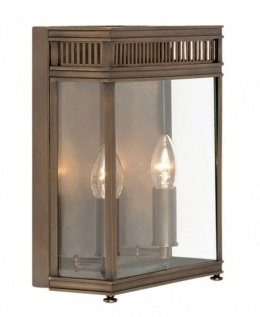 Antique Bronze Twin Bulb Exterior Wall Lantern