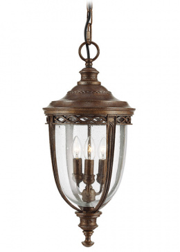 Antique Chain Lantern with Chandelier Bulb Holder