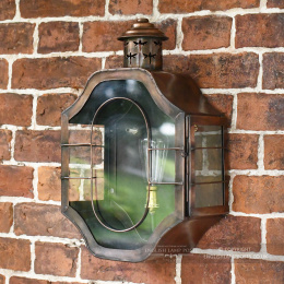 Antique Copper Nautical Inspired Wall Lantern
