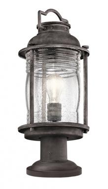 Antique Grey Conical Style Pedestal Light