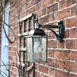 Antique Silver Top Fix Traditional Wall Light