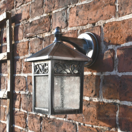 Antique Silver Traditional Wall Light With Bracket