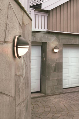 Backlit Domed Wall Light