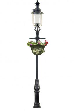 Victorian Belgravia Lamp Post 4.1m with Flower Basket