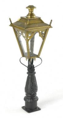 Brass Gothic Mini Victorian Lamp post set