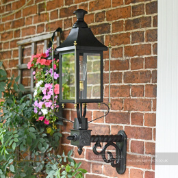 Black and Brass Rochford Victorian Garden Wall Light