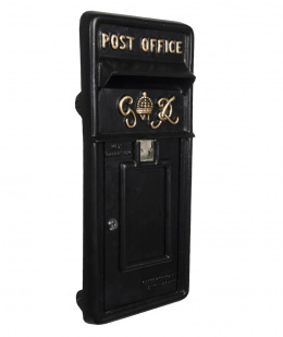 Black King George Post Box Front Plate