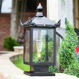 Black Beckenham Victorian Pillar Light