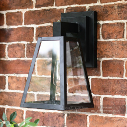 Black Contemporary Outdoor Porch Wall Lantern