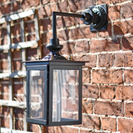 Black Contemporary Suspended Wall Lantern