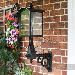 Black Curved Top Victorian Garden Wall Light