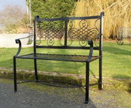 "Black ""The Devonshire"" Garden Bench"