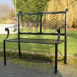 """Black """"The Devonshire"""" Garden Bench"""