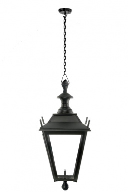 A chain hanging dorchester style ceiling light