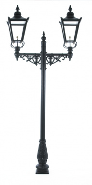 2.2m Double Head Victorian Lamp Post