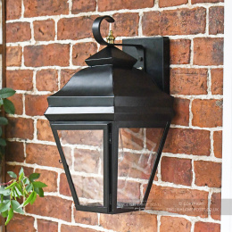 Black Flush Suspended Victorian Wall Lantern