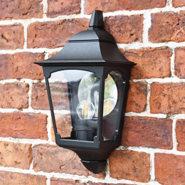 Black Flush Traditional Half Wall Light