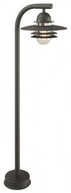 Galvanised Steel Modern Pillar Lamp Post