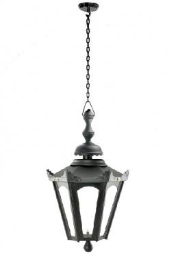 Black Hexagon Lantern On Chain