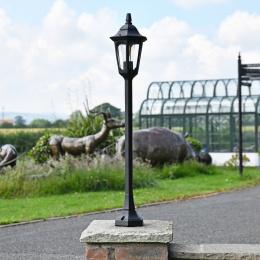 Black Hexagonal Tall Driveway Pillar Light