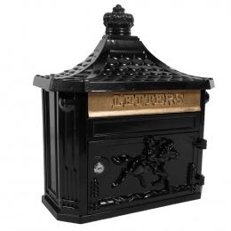 Black Huntley Wall Mounted Post Box