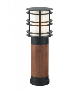 Low Level Natural Wood and Steel Driveway Light